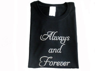 Always And Forever Swarovski rhinestone t shirt