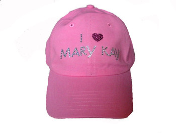 I Love Mary Kay Swarovski crystal rhinestone baseball cap hat