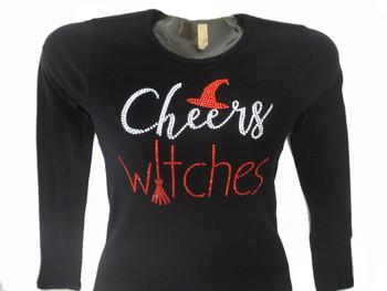 Cheers Witches Swarovski rhinestone tee shirt