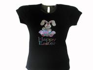 Happy Easter Bunny Swarovski crytal shirt