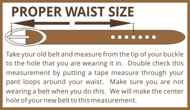 measure proper belt waist size