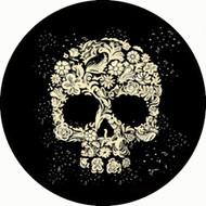 Floral Skull Black BR