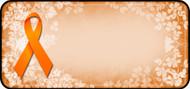 Ribbon Floral Orange