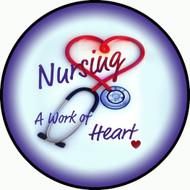 Nurses Heart Purple BR