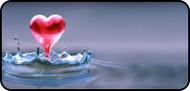 Droplet Heart Gray