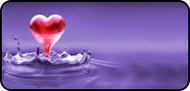 Droplet Heart Purple
