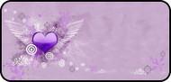 Flying Heart Purple