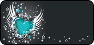 Winged Heart Aqua