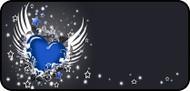 Winged Heart Blue