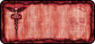 Skull Caduceus Red