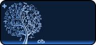 Med Sketch Tree Blue