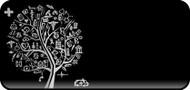 Med Sketch Tree Gray
