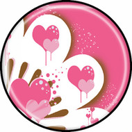 Pink & Brown Hearts BR