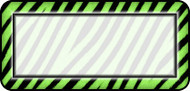 Zebra Lime White
