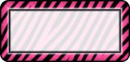 Zebra Pink White