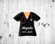 Scrub Top Magnet Black