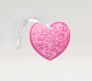 Scroll Heart Pink Ornament