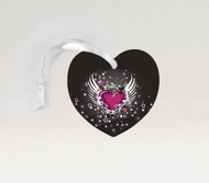Winged Heart Pink Ornament