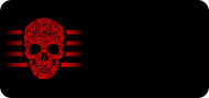 Scrolled Skull Red