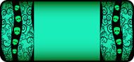 Tangled Skulls Green