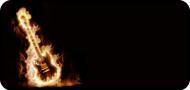 Flaming Guitar