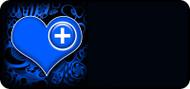 Med Heart Blue