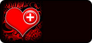 Med Heart Red