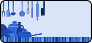 Kitchen Clutter Blue
