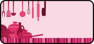 Kitchen Clutter Pink
