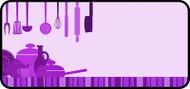 Kitchen Clutter Purple