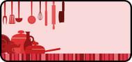 Kitchen Clutter Red
