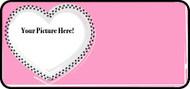 Fur Heart Pink Frame