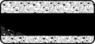 Tangled Heart Scroll Black