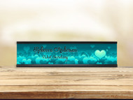 Stuck Love Aqua Desk Plate w/ Insert
