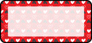 Pattern Hearts White
