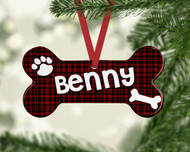 Pet Black Plaid Ornament
