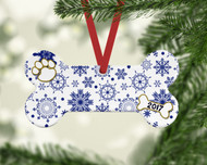 Pet Blue Flurries Ornament