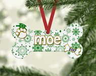 Pet Green Flurries Ornament