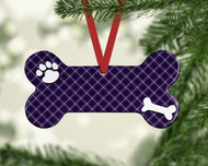 Pet Purple Plaid Ornament
