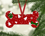 Pet Red Christmas Tree Ornament