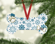 Pet Teal Flurries Ornament