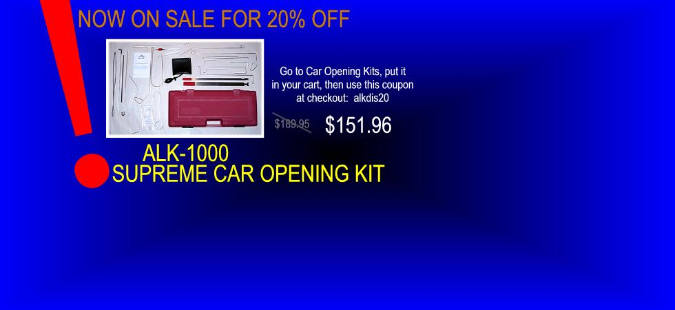 ALK-1000 Car Opening Kit On Sale!