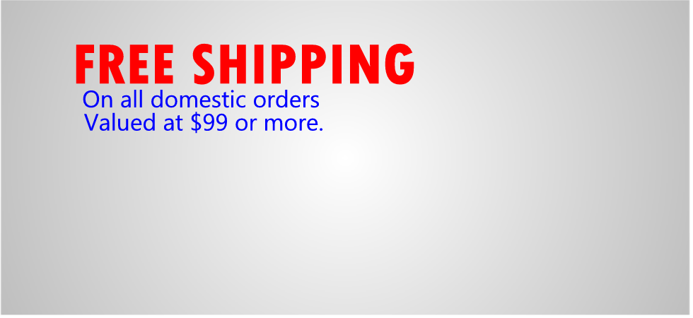 Free Shipping on US orders $99 or more