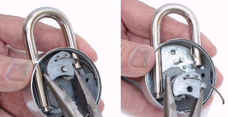 Step 4, dis-assembly of CTDCP practice lock