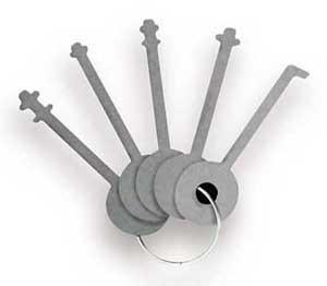 WP10 Stainless Steel Lock Picks for Wafer Padlocks