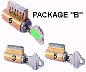 PACKAGE B SET OF PRACTICE LOCKS
