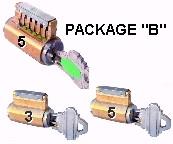 PACKAGE B SET OF PRACTICE LOCKS