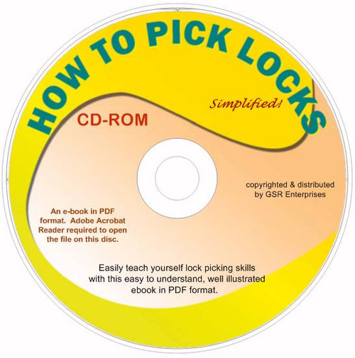 How To Pick Locks in PDF format - on CD-ROM