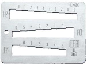 LKGIC Key Gauge for Interchangeable Core Keys | LAB
