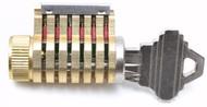 Vertically Slotted CutAway Practice Lock - 6-pinned, SC keyway